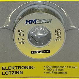 100g Elektronik - Lötzinn 1,0 mm mit Flussmittel