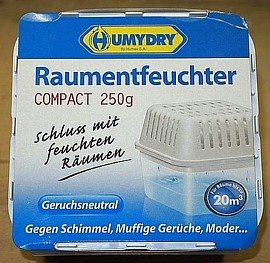 Humydry Raumentfeuchter Compact mit 250g Granulat