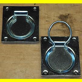 1 Paar - Metall Ringgriffe einklappbar - 75 x 88 mm - Griffdurchmesser ca. 40 mm