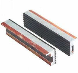1 Paar - Alu Schonbacken mit Gummi - Greiffläche + Magnet  - 125 mm