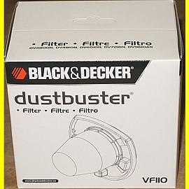 Black & Decker VF110 Filter für ADV1210 - DV4800 - DV4810 - DV6010 - DV6210 - DV7210 - DV9610AN