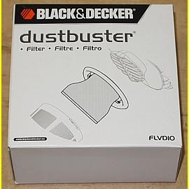 Black & Decker FLVD10 Filter für Dustbuster NV2410N, NV2420N, NV3610N, NV3620N +