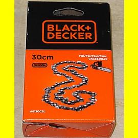 Black & Decker A6130CSL Ersatzkette 30 cm für Kettensäge GKC3630L20 - Neu
