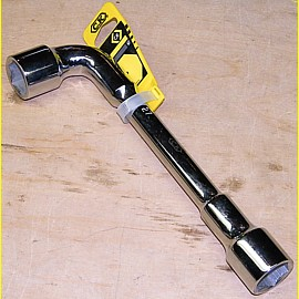 Pfeifenkopfschlüssel - Steckschlüssel abgewinkelt - Größe 27 mm