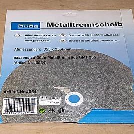 Güde 40541 Metalltrennscheibe f. Metallsäge GMT 355
