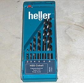 HSS Cobalt - Edelstahlbohrer Set 6 - tlg 2/3/4/5/6/8 mm