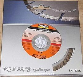 Merox Diamanttrennscheibe Turbo 115 x 22 mm für Trockenschnitt von Steinplatten