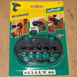 wolfcraft 4685000 Bohrhilfe für Rohre + Außenecken - accumobil