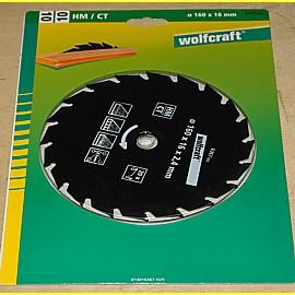 HM Kreissägeblatt 160 x 16 mm - Wolfcraft 6367000