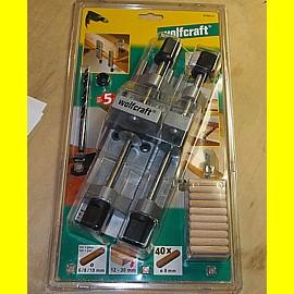 wolfcraft 3750000 - Universal Holzdübler Set mit Tiefenstopp + Holzdübel + Bohrer 8 mm