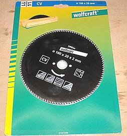 Kreissägeblatt 160 x 20 mm - Wolfcraft 6268000