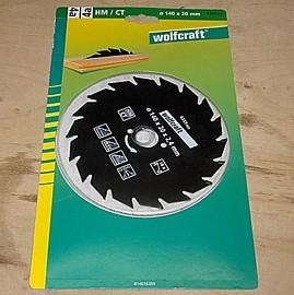 HM Kreissägeblatt 140 x 20 mm - Wolfcraft 6359000