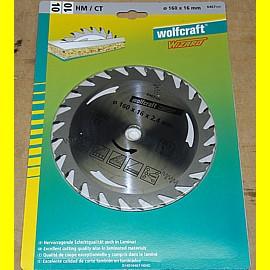 HM Kreissägeblatt 160 x 16 x 2,4 mm - Wolfcraft 6467000