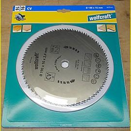 Kreissägeblatt 190 x 16 x 2,4 mm - Wolfcraft 6275000 - 100 Zähne