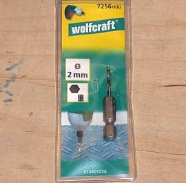 2 mm Metallbohrer mit Sechskantaufnahme Wolfcraft 7256000