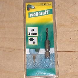 3 mm Metallbohrer mit Sechskantaufnahme Wolfcraft 7257000